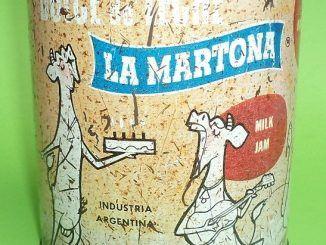 Antigua lata de dulce de leche La Martona